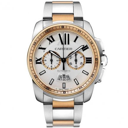 Calibre de Cartier Chronograph imitation watch W7100042