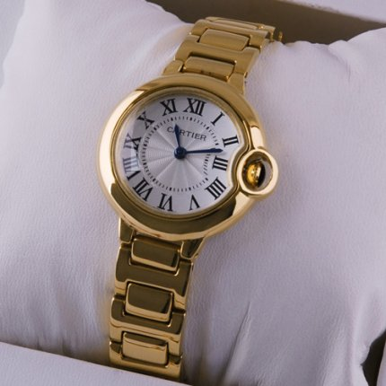 Ballon Bleu de Cartier watch replica 18kt yellow gold
