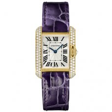 Cartier Tank Anglaise diamond watch WT100014 18K yellow gold