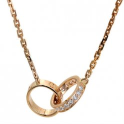 Cartier Love necklace pink gold diamond B7013900