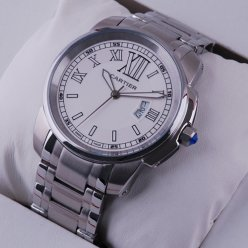 Calibre de Cartier replica watch for men stainless steel