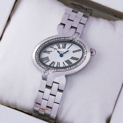 Cartier Delices diamond watch 18K white gold WG800004 for women