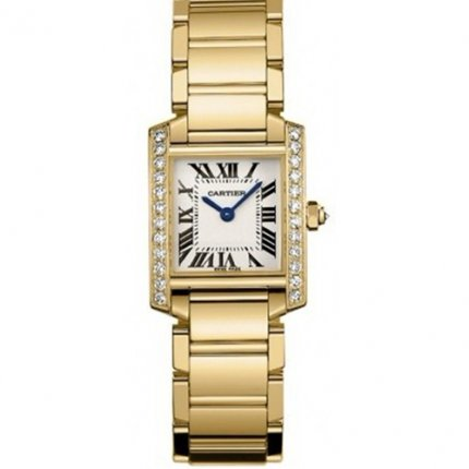 Cartier Tank Francaise women watch WE1001R8 yellow gold