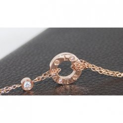 Cartier Love necklace pink gold diamonds