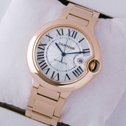 Ballon Bleu de Cartier W69006Z2 automatic watch 18K pink gold