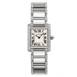Cartier Tank Francaise watch for women WE1002SF 18K white gold
