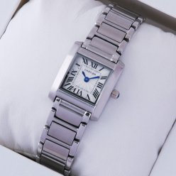 Cartier Tank Francaise womens steel watch W51008Q3