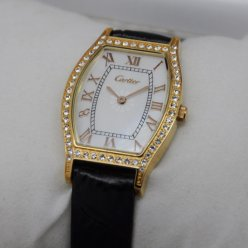 Cartier Tortue diamond watch 18K yellow gold for women