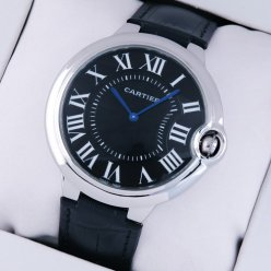Ballon Bleu de Cartier extra large watch black dial steel