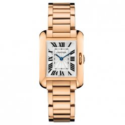 Cartier Tank Anglaise replica watch women W5310013 18K pink gold