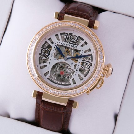 Pasha de Cartier skeleton diamond unisex watches replica