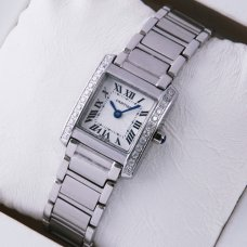 Cartier Tank Francaise watch for women WE1002S3 stainless steel