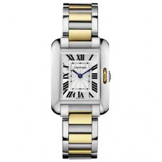 Cartier Tank Anglaise watch for women W5310046 yellow gold and steel