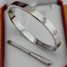 Cartier Love bracelet imitation white gold B6035416