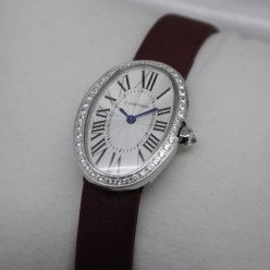 Cartier Baignoire swiss womens single row of diamonds watch replica