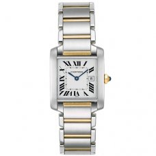 Cartier Tank Francaise watch replica W51005Q4 yellow gold and steel
