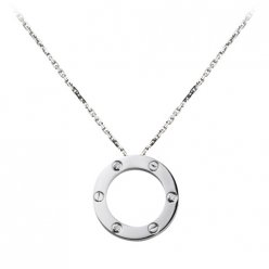 Cartier Love necklace white gold diamonds B7014600