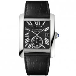Cartier Tank MC automatic mens watch W5330004 steel black dial