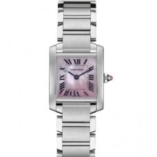 Cartier Tank Francaise women steel watch W51028Q3