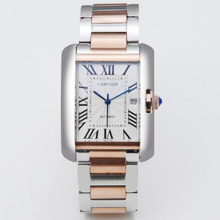 Cartier Tank Anglaise watch for men W5310006 pink gold and steel