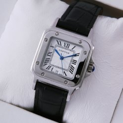 Cartier Santos 100 quartz midsize watch replica stainless steel