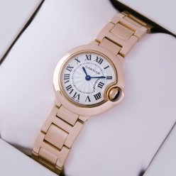 Ballon Bleu de Cartier small quartz watch W69002Z2 18kt pink gold