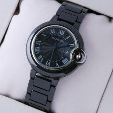 Ballon Bleu de Cartier black ceramic watch replica