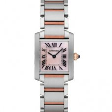 Cartier Tank Francaise womens watch W51007Q4 pink gold and steel