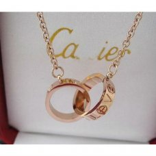 Cartier Love chain necklace pink gold B7212300