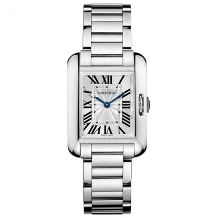 Cartier Tank Anglaise watch for women W5310023 18K white gold