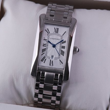 Cartier Tank Americaine 18K white gold watch