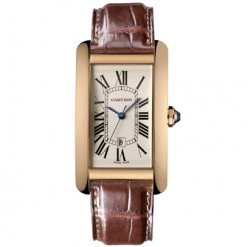 Cartier Tank Americaine mens replica watch W2603156 18K pink gold