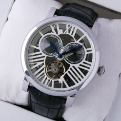 Rotonde de Cartier replica tourbillon skeleton watch for men