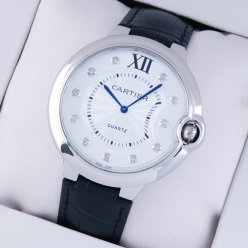 Ballon Bleu de Cartier extra large watch black leather strap