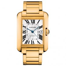 Cartier Tank Anglaise replica watch for men W5310018 18K yellow gold
