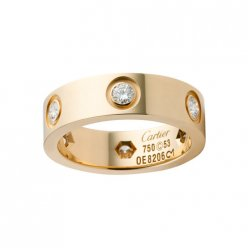 Cartier Love ring yellow gold B4025900 diamonds