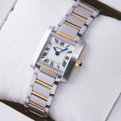 Cartier Tank Francaise womens watch W51007Q4 yellow gold and steel