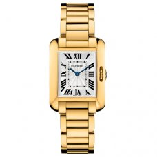 Cartier Tank Anglaise replica watch for women W5310014 18K yellow gold
