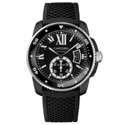 Calibre de Cartier Diver watch WSCA0006 ADLC steel black rubber strap