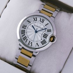 Ballon Bleu de Cartier replica watch 18kt yellow gold and steel