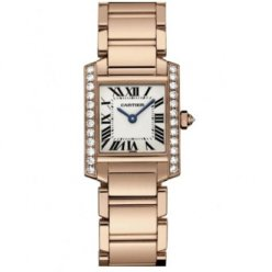 Cartier Tank Francaise womens diamond watch WE10456H 18K pink gold