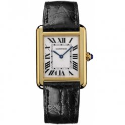 Cartier Tank Solo mens watch replica W5200004 18K yellow gold