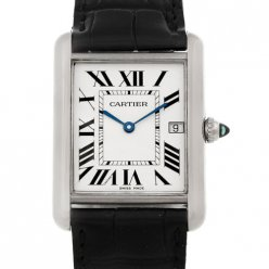 Cartier Tank Louis 18K white gold mens watch replica W1540956
