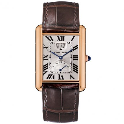 Cartier Tank Louis mens watch W1560003 18K pink gold
