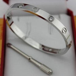 Cartier Love Bracelet replica white gold diamond B6035816