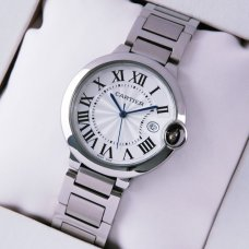 Ballon Bleu de Cartier quartz watch replica date stainless steel