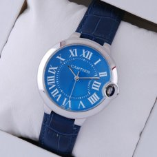 Ballon Bleu de Cartier medium steel watch imitation blue dial