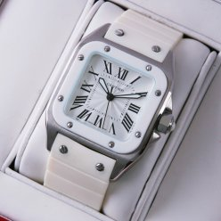 Cartier Santos 100 midsize watch replica stainless steel