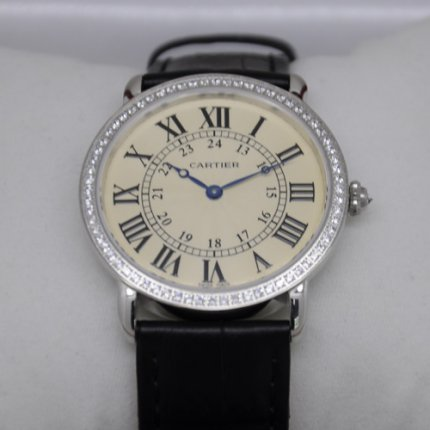 Cartier Ronde Louis diamond swiss watch for men and women