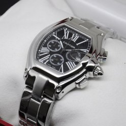 Cartier Roadster Chronograph black dial fake watch for men